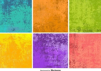Colourful Grunge Vector Textures - vector #367985 gratis