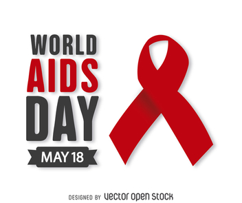 World AIDS Day red ribbon - Free vector #368045