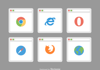 Free Web Browser Vector Icons - бесплатный vector #368375