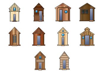 Wooden Shack Vector - Free vector #368415