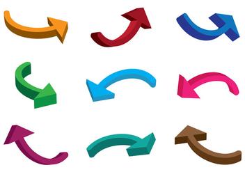 3D Fechas Arrows Vector - Kostenloses vector #368435