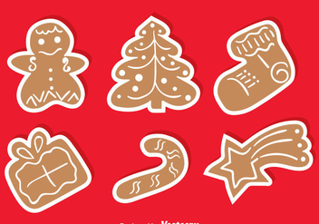 Gingerbread Collection Set - vector gratuit #368545