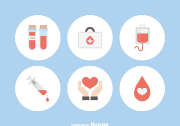 Free Blood Donation Vector Icons - vector gratuit #368575