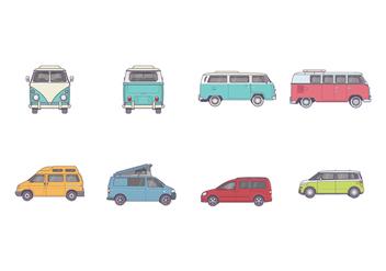 Free VW Camper Vectors - Free vector #368585