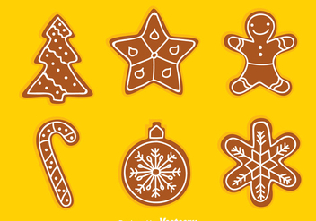 Gingerbread Set Vector - Free vector #368605