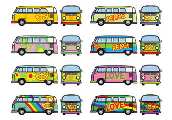 Free Hippie Bus Vector - бесплатный vector #368665