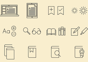 E Reader Icons - Free vector #368725