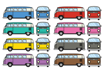 Free VW Camper vector - Free vector #368775
