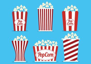 Popcorn Box Vector - Kostenloses vector #368785