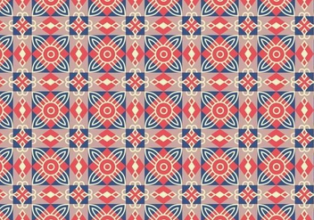 Geometric Tile Pattern Background - vector #368825 gratis