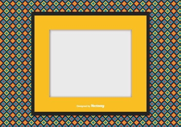 Picture frame on Colorful Background - vector gratuit #368905