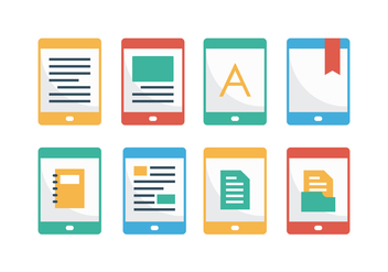 Free E-Reader Flat Icons - Free vector #369015