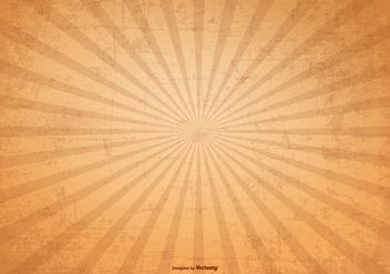 Sunburst Vector Grunge Background - Free vector #369055