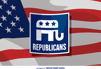 US Republican elephant badge - vector #369225 gratis