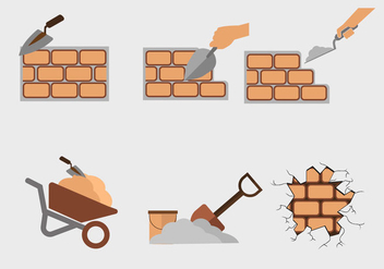 Wall Construction Vector - Kostenloses vector #369595