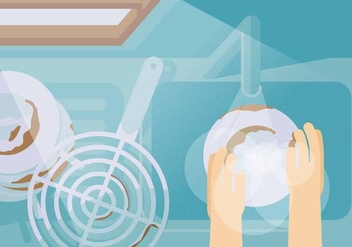Vector Dirty Dishes - vector #369665 gratis
