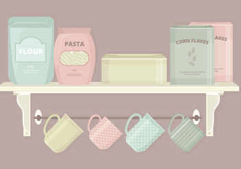 Kitchen Elements Vector Set - Free vector #369775