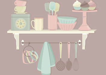 Kitchen Elements Vector Set - Free vector #369825