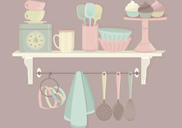 Kitchen Elements Vector Set - Free vector #369825