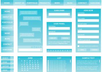 Blue Web Kit - vector #369835 gratis