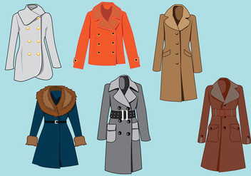 Elegant Winter Coat Vector - vector #369975 gratis