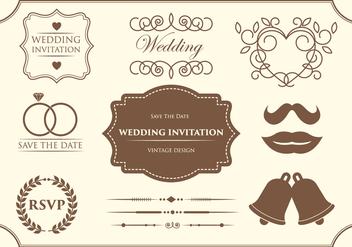 Free Wedding Ornament Vectors - Free vector #370015