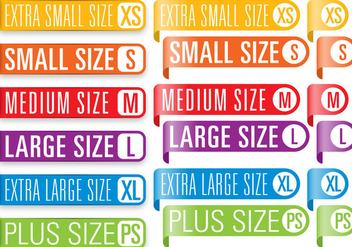 Clothes Size Banners - бесплатный vector #370115
