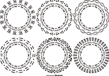 Hand Drawn Style Circle Shapes - Free vector #370285