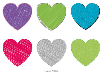 Sketchy Heart Set - Free vector #370405