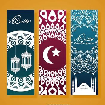 Vertical Ramadan banner set - Kostenloses vector #370655