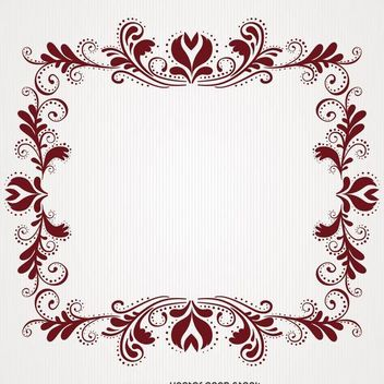 Floral swirl frame - Free vector #370665