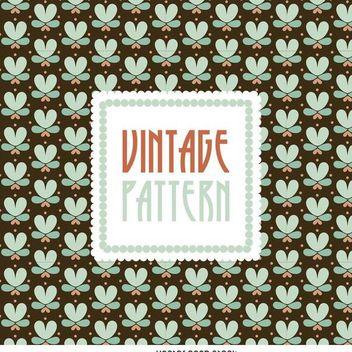 Floral vintage pattern - vector gratuit #370685