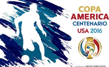 Copa America silhouette poster - Free vector #370695