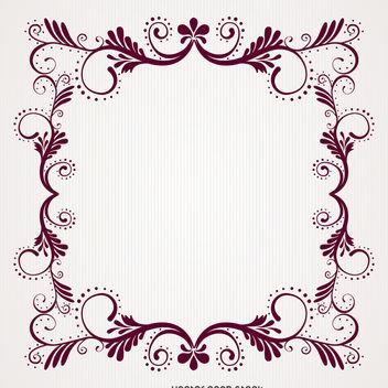 Vintage floral swirl frame - Free vector #370705