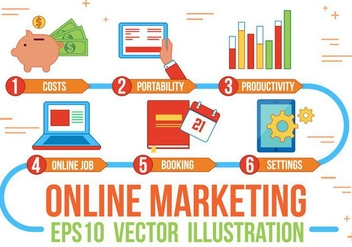 Free Online Marketing Vector - vector #370795 gratis