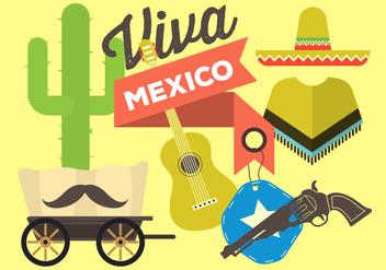 Free Flat Mexico Vectors - Free vector #370955