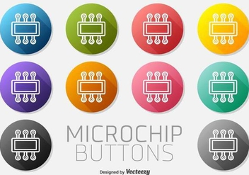 Microchip Icon Buttons Vector Set - Free vector #371005