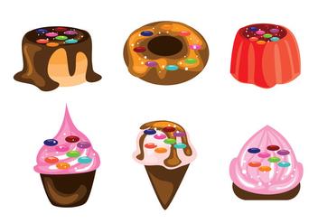 Dessert Vectors - vector #371125 gratis