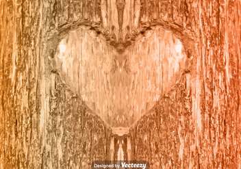 Vector Heart Carved In Tree - Kostenloses vector #371195