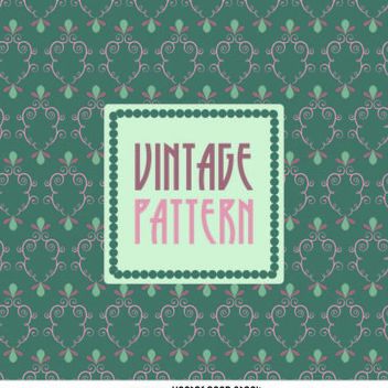 Vintage pattern wallpaper - vector gratuit #371225