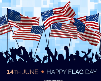 USA Flag Day illustration - Free vector #371235
