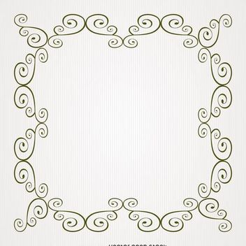 Square swirl frame - Free vector #371275