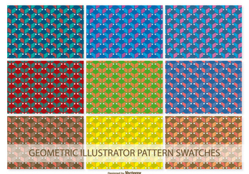 Geometric Vector Pattern Swatches - Free vector #371385