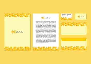 Free Yellow Vector Letterhead Design - Kostenloses vector #371415