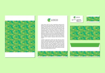 Free Green Vector Letterhead Design - Free vector #371515