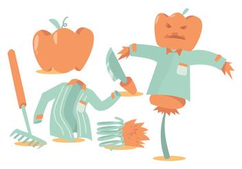 Pumpkin Patch Vector Set - Free vector #371525