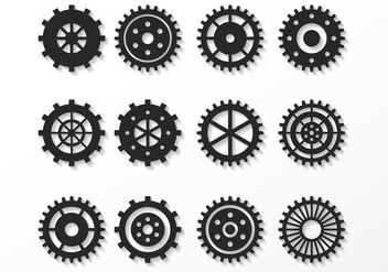 Free Clock Parts Vector - vector gratuit #371595