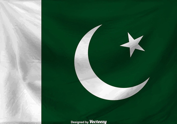 Flag Of Pakistan Vector Background - Free vector #371665