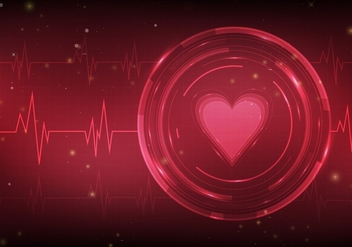 Heart Monitor Free Vector Background - vector gratuit #371705