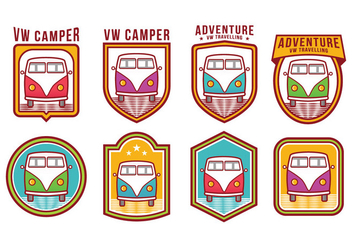 VW Camper Vector Pack - Free vector #371875